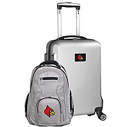 University of Louisville 2-Piece Carry On and Backpack Luggage Set in Silver