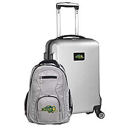 North Dakota State University 2-Piece Carry On and Backpack Luggage Set in Silver
