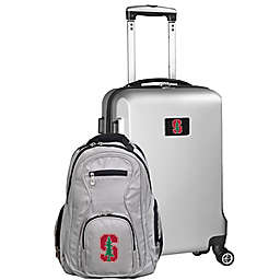 Stanford University 2-Piece Carry On and Backpack Luggage Set in Silver
