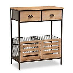 Baxton Studio Poppy Kitchen Storage Cabinet in Brown/Black