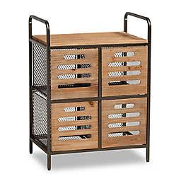 Baxton Studio Emmy Kitchen Storage Cabinet in Brown/Black