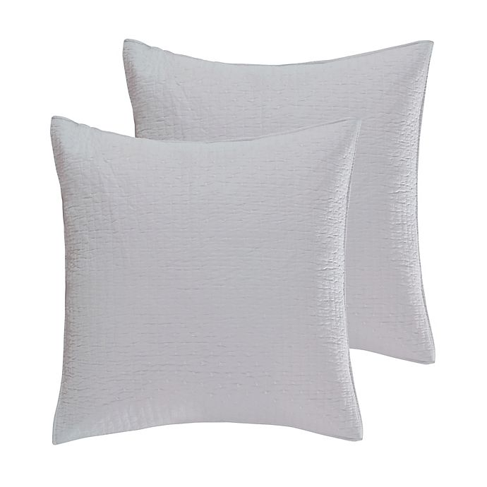 Alternate image 1 for Levtex Home Torrey European Pillow Shams in White (Set of 2)