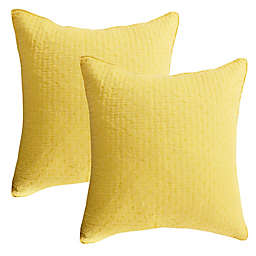 Levtex Home Torrey European Pillow Shams in Yellow (Set of 2)