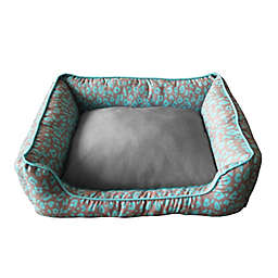 Style Quarters Chico Small Dog Bed in Blue/Tan