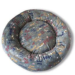 Style Quarters Loyal Small Round Dog Bed in Dark Grey