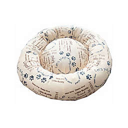 Style Quarters My Pal Cuddle Small Round Dog Bed in Cream