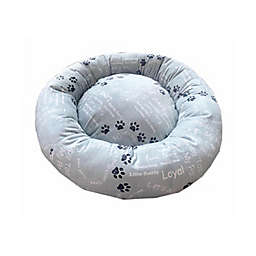 Style Quarters My Pal Cuddle Small Round Dog Bed in Grey