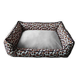 Style Quarters Wild Thing Medium Rectangular Dog Bed in Brown/Black