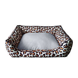 Style Quarters Wild Thing Small Rectangular Dog Bed in Brown/Black