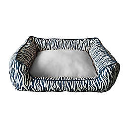 Style Quarters Zulu Small Dog Bed in Black/Cream
