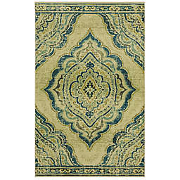 "Mohawk Home® 2' x 3' 4"" Prismatic Eastern Heights Accent Rug in Blue"