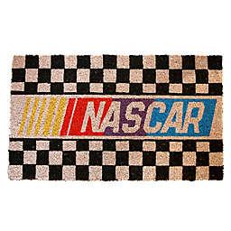 """NASCAR Checkerboard 17"""" x 29"""" Coir Door Mat"""