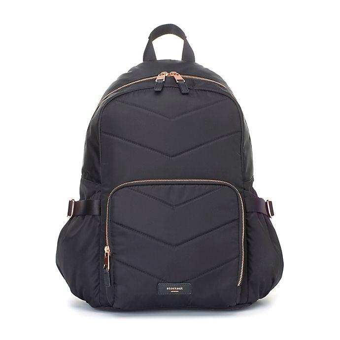 Alternate image 1 for Storksak® Hero Quilt Diaper Bag in Black