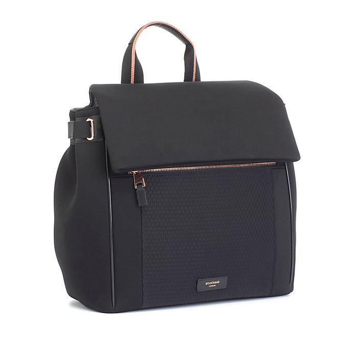 Alternate image 1 for Storksak® St. James Scuba Diaper Bag in Black