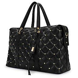 Badgley Mischka® Quilted Travel Tote Weekender Bag in Black