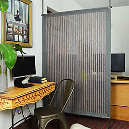 Versailles Home Fashions Bamboo Privacy Panel in Grey