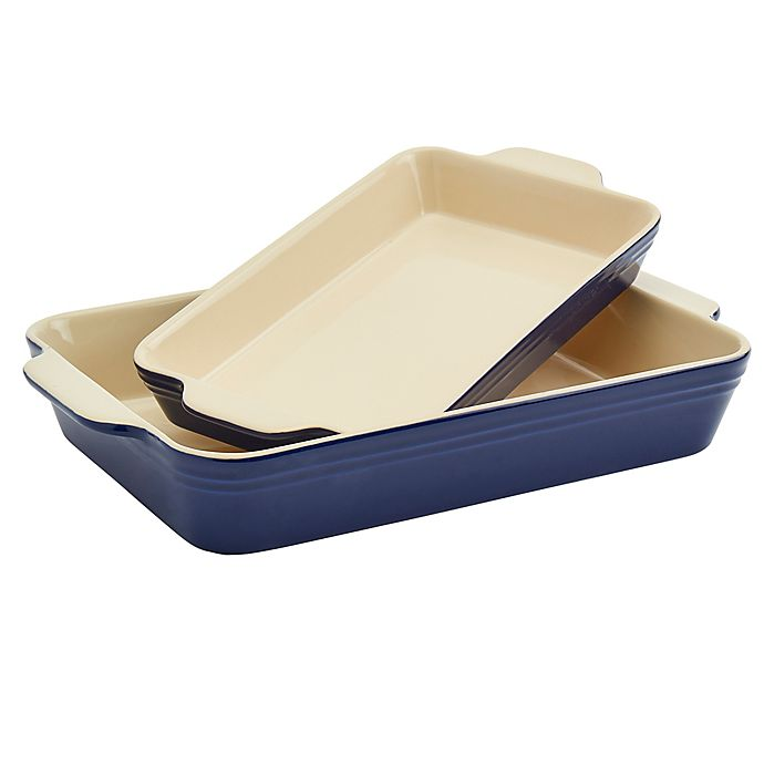 Alternate image 1 for Our Table™ 2-Piece Stoneware Rectangular Bakers Set