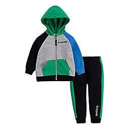 Crayola® Size 12M 2-Piece Sweatshirt and Jogger Pant Set in Black/Grey