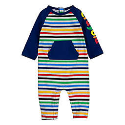 Crayola® Size 0-3M Fun Stripes Coverall in Navy