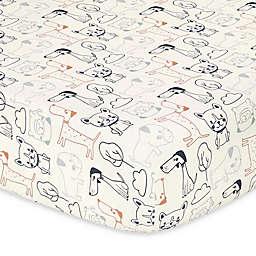 The Peanutshell™ Pug Life Fitted Crib Sheet