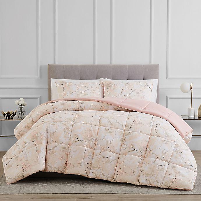 Alternate image 1 for Reversible 3-Piece Marble Comforter Set