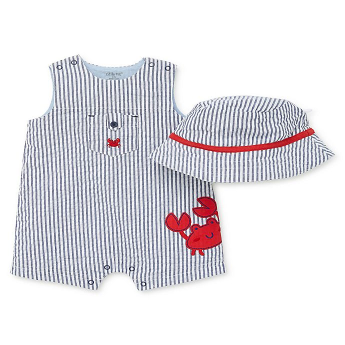 Alternate image 1 for Little Me® 2-Piece Crab Romper and Hat Set