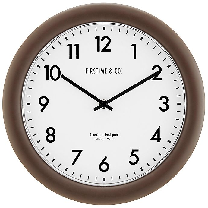 Alternate image 1 for FirsTime® Sloane 12-Inch Essential Wall Clock in Dark Brown
