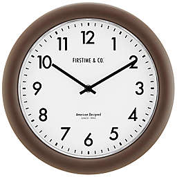 FirsTime® Sloane 12-Inch Essential Wall Clock in Dark Brown