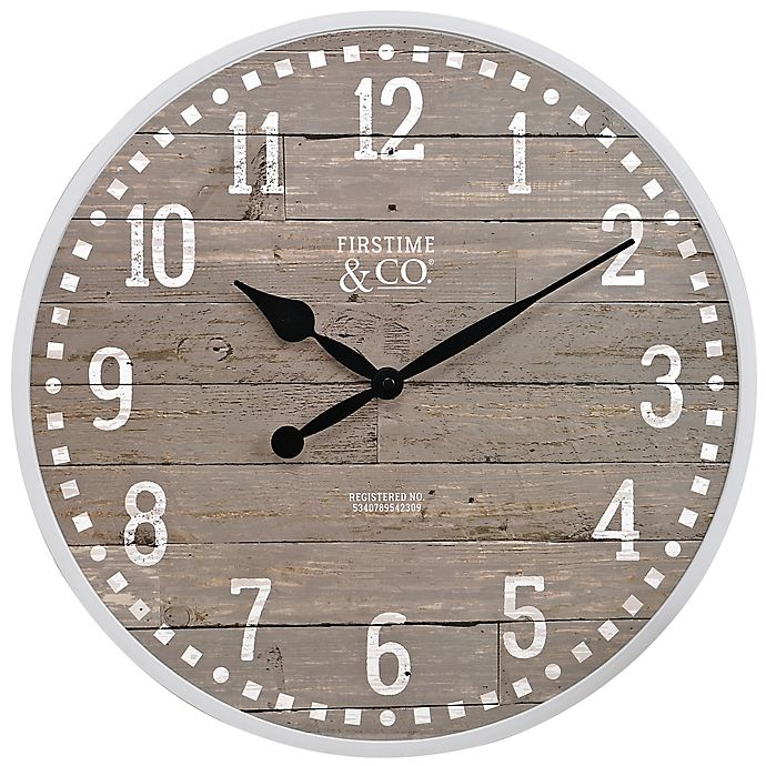 Alternate image 1 for FirsTime® Arlo 18-Inch Wall Clock in Grey