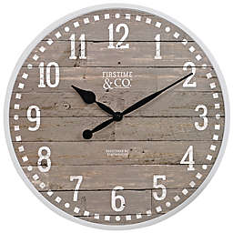 FirsTime® Arlo 18-Inch Wall Clock in Grey