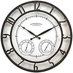 FirsTime & Co.® 18-Inch Parker Outdoor Wall Clock in Oil-Rubbed Bronze