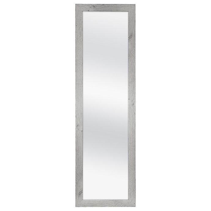 Alternate image 1 for No Tools 51-Inch x 15-Inch Over-the-Door-Mirror