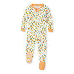 Burt's Bees Baby® Freshly Pickled Oranges Sleep & Play Footie in Orange