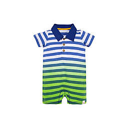 Burt's Bees Baby® Dip Dye Polo Romper in Blue/Green