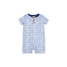 Burt's Bees Baby® Abstract Triangles Henley Romper in Blue