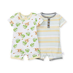 Burt's Bees Baby® 2-Pack Sloth Sanctuary Rompers in Honeydew