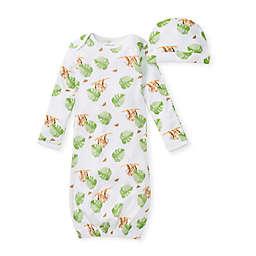 Burt's Bees Baby® 2-Piece Sloth Sanctuary Gown & Cap Set