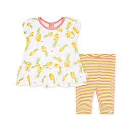 Burt's Bees Baby® Maui Tunic & Capri Legging Set in Yellow/Pink
