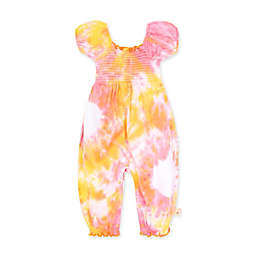 Burt's Bees Baby® Tie-Dye Organic Cotton Short Sleeve Smocked Jumpsuit