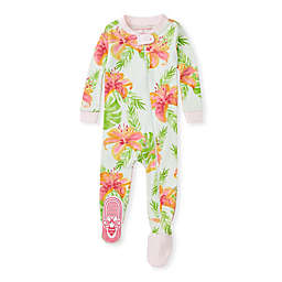 Burt's Bees Baby® Lily Oasis Organic Cotton Sleep & Play Footie in Pink
