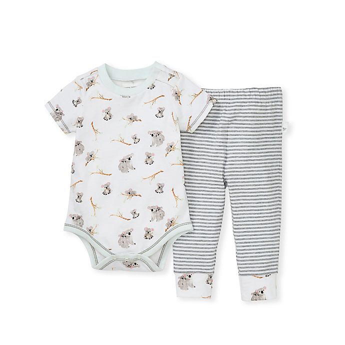 Alternate image 1 for Burt's Bees Baby® 2-Piece Perfectly Koalafied Bodysuit and Pant Set
