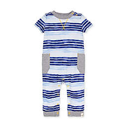 Burt's Bees Baby® Oversized Painted Stripe Jumpsuit in Blue