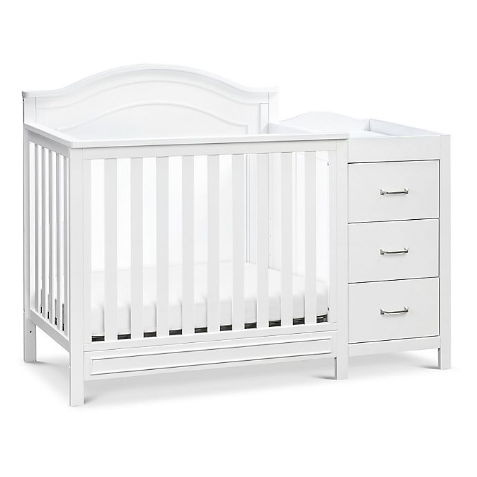 Alternate image 1 for DaVinci Charlie 4-in-1 Convertible Mini Crib & Changer in White