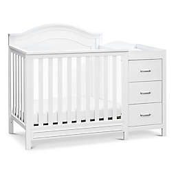 DaVinci Charlie 4-in-1 Convertible Mini Crib & Changer in White