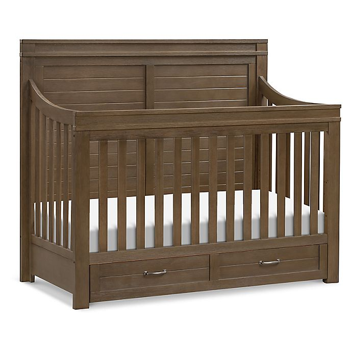 Alternate image 1 for Million Dollar Baby Wesley Farmhouse 4 in 1 Convertible Crib in Stablewood