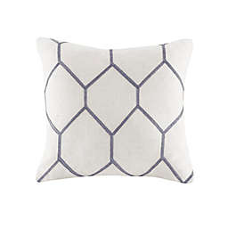 Madison Park Brooklyn Metallic Square Throw Pillows in Grey (Set of 2)