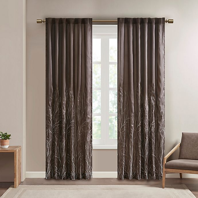 Alternate image 1 for Madison Park Andora Rod Pocket/Back Tab Lined Window Curtain Panel and Valance