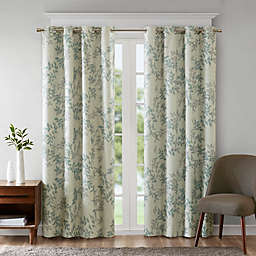 SunSmart Julie Printed Botanical Grommet Top Room Darkening Window Curtain Panel