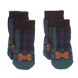 Bee & Willow Home™ Snowflake Dog Socks in Green