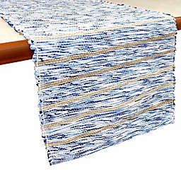 Bee & Willow™ Home 108-Inch Woven Table Runner in Neutral/Blue